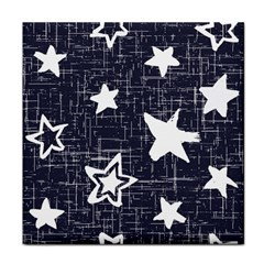 Star Space Line Blue Art Cute Kids Tile Coasters by Mariart