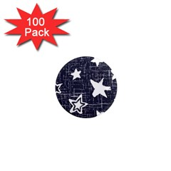 Star Space Line Blue Art Cute Kids 1  Mini Magnets (100 Pack)  by Mariart