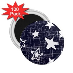 Star Space Line Blue Art Cute Kids 2 25  Magnets (100 Pack)  by Mariart