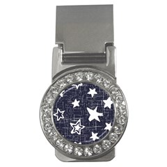 Star Space Line Blue Art Cute Kids Money Clips (cz)  by Mariart
