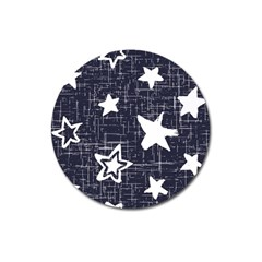 Star Space Line Blue Art Cute Kids Magnet 3  (round) by Mariart