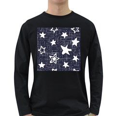 Star Space Line Blue Art Cute Kids Long Sleeve Dark T-shirts by Mariart