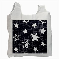 Star Space Line Blue Art Cute Kids Recycle Bag (one Side) by Mariart