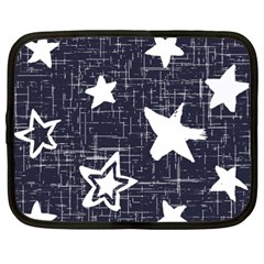 Star Space Line Blue Art Cute Kids Netbook Case (xxl)  by Mariart