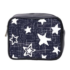 Star Space Line Blue Art Cute Kids Mini Toiletries Bag 2 Side by Mariart