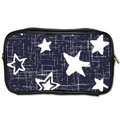 Star Space Line Blue Art Cute Kids Toiletries Bags 2 Side by Mariart