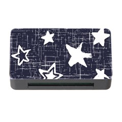 Star Space Line Blue Art Cute Kids Memory Card Reader With Cf by Mariart