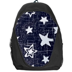 Star Space Line Blue Art Cute Kids Backpack Bag by Mariart