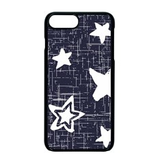Star Space Line Blue Art Cute Kids Apple Iphone 7 Plus Seamless Case (black) by Mariart