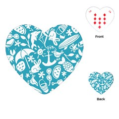 Summer Icons Toss Pattern Playing Cards (heart)  by Mariart