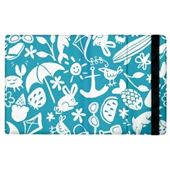 Summer Icons Toss Pattern Apple Ipad 3/4 Flip Case by Mariart