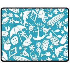Summer Icons Toss Pattern Double Sided Fleece Blanket (medium)  by Mariart