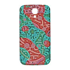Recursive Coupled Turing Pattern Red Blue Samsung Galaxy S4 I9500/i9505  Hardshell Back Case by Mariart