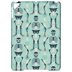Skull Skeleton Repeat Pattern Subtle Rib Cages Bone Monster Halloween Apple Ipad Pro 9 7   Hardshell Case by Mariart