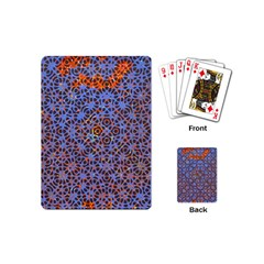 Silk Screen Sound Frequencies Net Blue Playing Cards (mini)  by Mariart