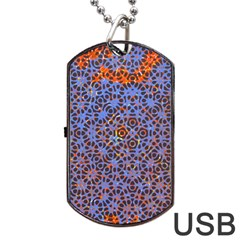 Silk Screen Sound Frequencies Net Blue Dog Tag Usb Flash (two Sides) by Mariart