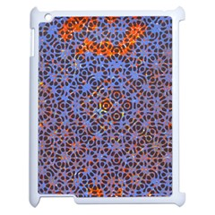 Silk Screen Sound Frequencies Net Blue Apple Ipad 2 Case (white) by Mariart