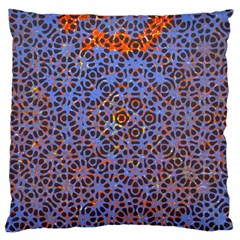 Silk Screen Sound Frequencies Net Blue Large Cushion Case (two Sides)