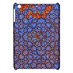 Silk Screen Sound Frequencies Net Blue Apple Ipad Mini Hardshell Case by Mariart