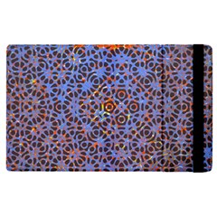 Silk Screen Sound Frequencies Net Blue Apple Ipad Pro 12 9   Flip Case by Mariart