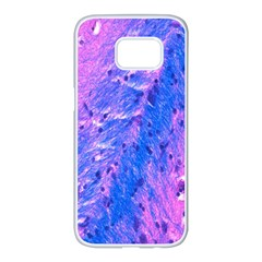 The Luxol Fast Blue Myelin Stain Samsung Galaxy S7 Edge White Seamless Case by Mariart