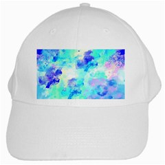 Transparent Colorful Rainbow Blue Paint Sky White Cap by Mariart