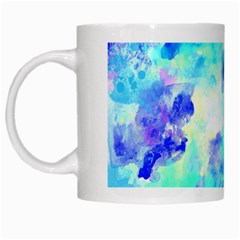 Transparent Colorful Rainbow Blue Paint Sky White Mugs by Mariart