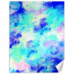 Transparent Colorful Rainbow Blue Paint Sky Canvas 18  X 24   by Mariart