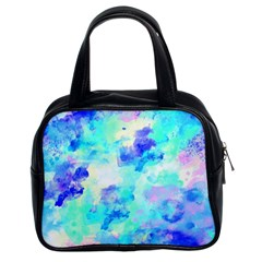 Transparent Colorful Rainbow Blue Paint Sky Classic Handbags (2 Sides) by Mariart