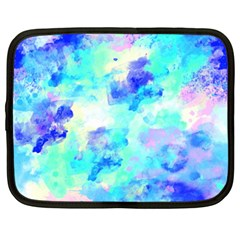 Transparent Colorful Rainbow Blue Paint Sky Netbook Case (xl)  by Mariart