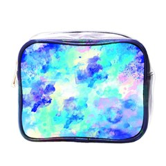 Transparent Colorful Rainbow Blue Paint Sky Mini Toiletries Bags by Mariart