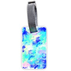 Transparent Colorful Rainbow Blue Paint Sky Luggage Tags (one Side)  by Mariart
