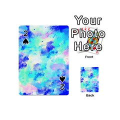 Transparent Colorful Rainbow Blue Paint Sky Playing Cards 54 (mini)  by Mariart