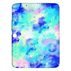 Transparent Colorful Rainbow Blue Paint Sky Samsung Galaxy Tab 3 (10 1 ) P5200 Hardshell Case  by Mariart