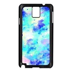Transparent Colorful Rainbow Blue Paint Sky Samsung Galaxy Note 3 N9005 Case (black) by Mariart