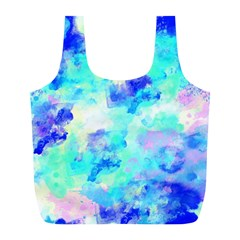 Transparent Colorful Rainbow Blue Paint Sky Full Print Recycle Bags (l)  by Mariart
