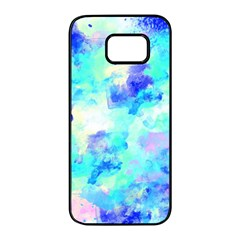 Transparent Colorful Rainbow Blue Paint Sky Samsung Galaxy S7 Edge Black Seamless Case by Mariart