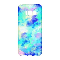 Transparent Colorful Rainbow Blue Paint Sky Samsung Galaxy S8 Hardshell Case  by Mariart