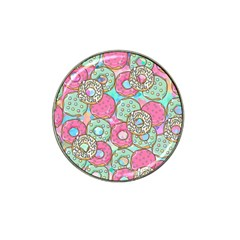 Donuts Pattern Hat Clip Ball Marker (10 Pack) by ValentinaDesign