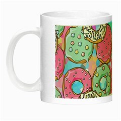 Donuts Pattern Night Luminous Mugs by ValentinaDesign