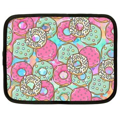Donuts Pattern Netbook Case (large) by ValentinaDesign