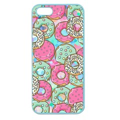 Donuts Pattern Apple Seamless Iphone 5 Case (color) by ValentinaDesign