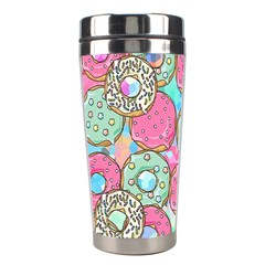 Donuts Pattern Stainless Steel Travel Tumblers by ValentinaDesign