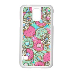 Donuts Pattern Samsung Galaxy S5 Case (white) by ValentinaDesign