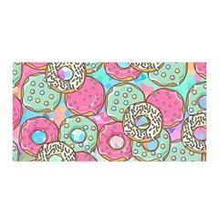 Donuts Pattern Satin Wrap by ValentinaDesign