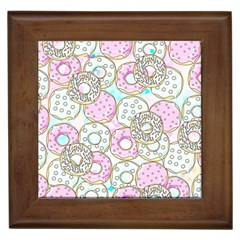 Donuts Pattern Framed Tiles by ValentinaDesign