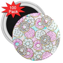 Donuts Pattern 3  Magnets (100 Pack) by ValentinaDesign