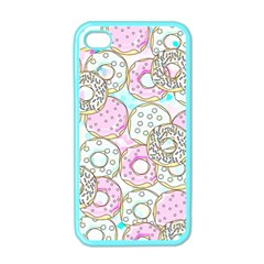 Donuts Pattern Apple Iphone 4 Case (color) by ValentinaDesign