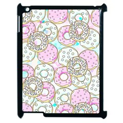 Donuts Pattern Apple Ipad 2 Case (black) by ValentinaDesign