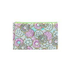 Donuts Pattern Cosmetic Bag (xs) by ValentinaDesign